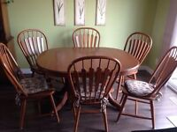 Big family table and chairs paid $1.499 asking$250