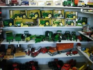 Die Cast Tractors some in boxes  .JD, IH, Caterpillar , etc.