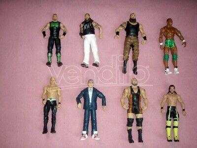 WWE WWF WRESTLING lotto di 8 action figures mattel rollins wyatt