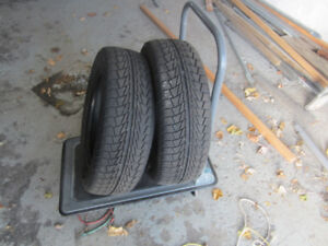 two (2) used winter tires 175-65r15  .