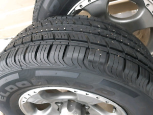 Nissan Frontier wheels with all season tires