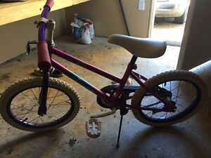 Kids bicycle with side wheels for age 4-8