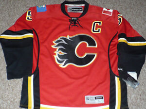 Calgary Flames Giordano Reebok Jersey Size Large New with Tags
