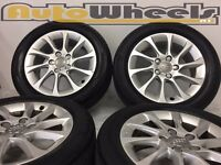"16"" genuine Audi a3 alloy wheels & tyres 5/112 delivery available a4 vw caddy jetta golf sport"