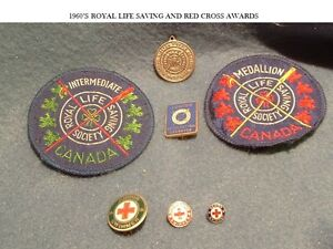 1960'S ROYAL LIFE SAVING & RED CROSS SWIMMING AWARDS
