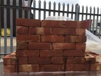 Reclaimed red bricks new made to look old imperial size
