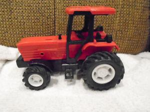 jouet -tracteur de ferme rouge , 6 x4 pouces
