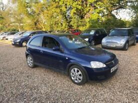 2003 Vauxhall Corsa 1.2i 16v SXi 12 Months MOT Low Milage