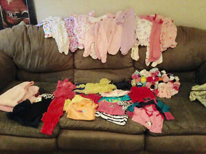 0-3 mths baby girl clothes