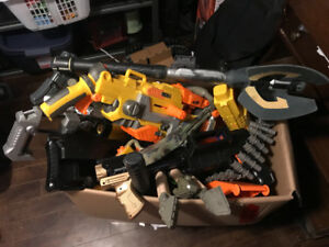 Box of nerf guns