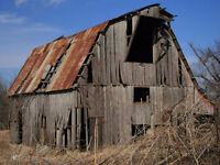 Looking to clean up old wood barns