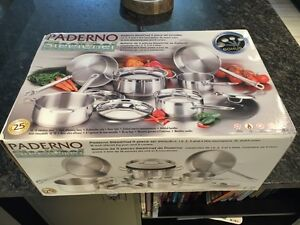 Paderno SteelChef 11 piece stainless steel cookware set Cambridge Kitchener Area image 1