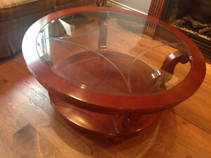 Beautiful wood and glass coffee table