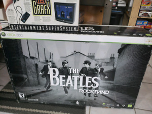 TheBeatles Rock Band Guitar Drums Set X-Box 360 Video Games