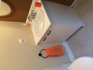 Armoire de salle de bain et lavabo