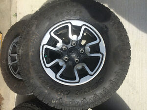 REDUCED Oct 7 !!  Ram Rebel rims Toyo Open Country A/T2 M+S 17""