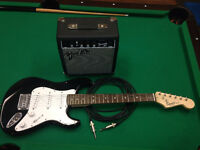 Fender Squire (3/4 size strat) with Amp,Cable, and Strap $180