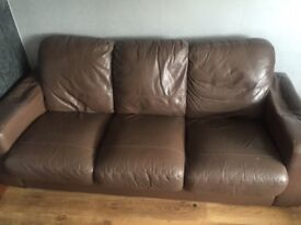 3 seater sofa/large dining table/chairs/bedside cabinets/bed frame