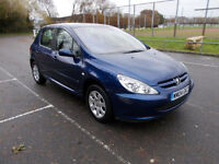 Peugeot 307 1.4 16v ( a/c ) 2004 LONG MOT ONLY 62,000 MILES PX WELCOME