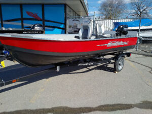 2018 MirroCraft 1400 Tiller Fishing Boat w/motor & trailer