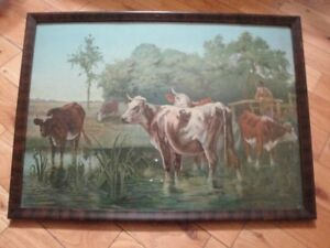 Wall art of cows