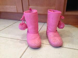 Girls Pink Boots - Joe Fresh, Child Size 10