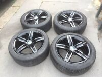 Black BMW original alloys with tyres 1 3 4 msport rims