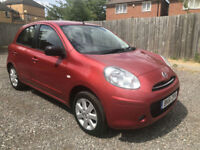 2011 NISSAN MICRA ACENTA 1.2 5 DOOR RED **ONLY 22,000 MILES**