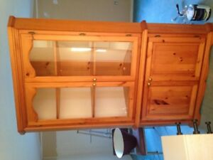 Cabinet is in great condition, Solid wood, corner cabinet