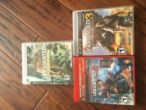 Uncharted  1 , 2 and 3 for ps3
