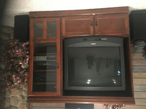 price reduced! Entertainment Unit with glass door and 2 drawers