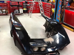 1981 corvette front end with lights and booster and inner fender