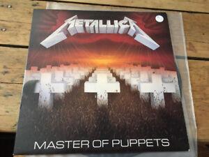 Original Metallica Master of Puppets records rare lp vinyl