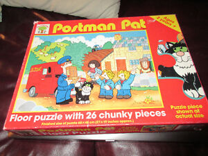 Vintage Postman Pat Floor Puzzle - 26 chunky large pieces