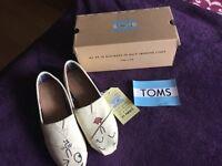 Toms. Customised ladies uk size 5