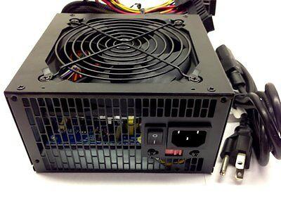 Quiet 700 Watt Power Supply SATA PCI-E for Intel AMD PC ATX Computer PSU Unit