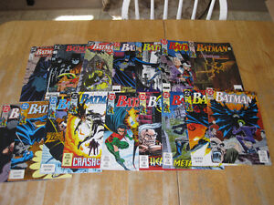 Over 90 Batman comic books