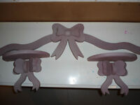set of 3 wooden bows