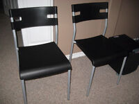 Chairs - Black with silver