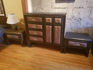 Retro dresser and 2 side units