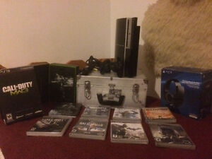 SONY PLAYSTATION 3 WITH ALL THE GAMES  negotiable