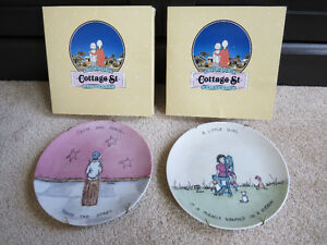Vintage 1980's Collector Plates - Cottage St. by Flavia