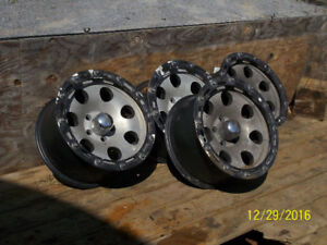 4 eagle alloy rims plus various truck & car tires