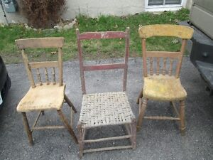 3 VINTAGE CHAIRS BARN FIND