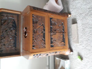 Solid Teak Bar carved in Thailand in the 1960s. One family owned