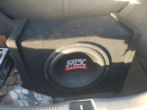 Mtx car subwoofers and amp