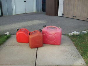 GAS  CANS  --  2 1/2  AND  5  GALLON