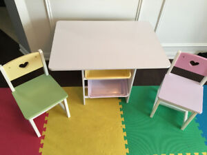 KidKraft table and storage set