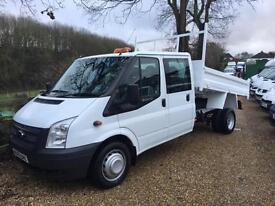 FORD TRANSIT 350 DOUBLE CAB TIPPER 63 REG