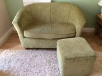 MINI SOFA SETTEE WITH MATCHING FOOTSTOOL